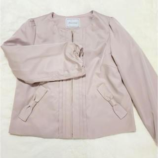クチュールブローチ(Couture Brooch)のcouture brooch リボンポケット ノーカラーブルゾン(ノーカラージャケット)