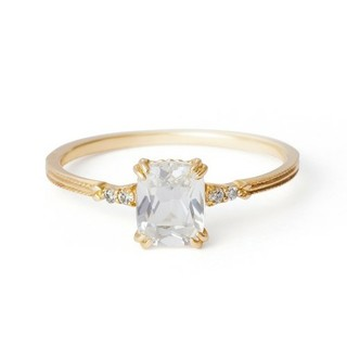 agete - アガット クォーツ、ダイヤモンドリング