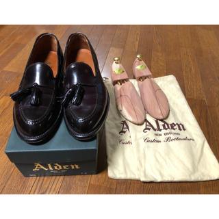 Alden - 超美品 オールデンのコードバンタッセルスリップオン