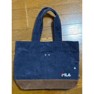フィラ(FILA)のFILA トートバック コーデュロイ 紺(トートバッグ)