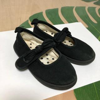 petit main - フォーマルシューズ 靴 プティマイン  黒 りぼん 女の子 おしゃれ