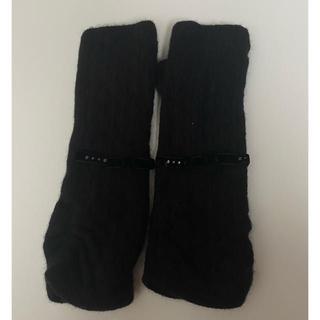 ランバンコレクション(LANVIN COLLECTION)の【送料込み】ランバン 指なし 手袋 ブラック(手袋)