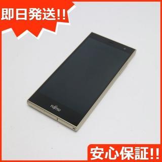 フジツウ(富士通)の新品同様 SIMフリー arrows RM02 ゴールド (スマートフォン本体)
