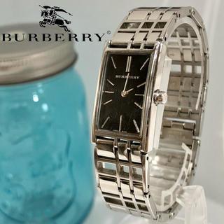 バーバリー(BURBERRY)の105 バーバリー時計 新品電池 レディース腕時計 スクエア型 コマ有り!(腕時計)