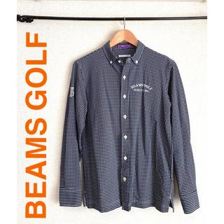 ビームス(BEAMS)のビームスゴルフ定価23800円ストレッチギンガムチェックボタンダウン長袖シャツ(ウエア)