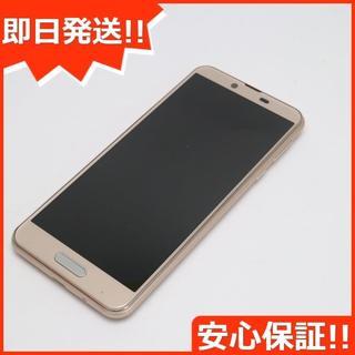 シャープ(SHARP)の美品 SIMフリー SH-M07 ベージュ 本体 白ロム (スマートフォン本体)