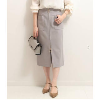 ノーブル(Noble)のむつみ様専用 Noble フープジップタイトスカート グレー IENA スピック(ロングスカート)