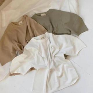 トゥデイフル(TODAYFUL)のlawgy simple sleeve design cut white(Tシャツ/カットソー(七分/長袖))