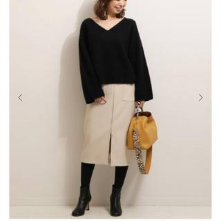 ノーブル(Noble)のNoble フープジップタイトスカート ベージュ IENA スピック(ロングスカート)