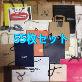 美品 ショッパー ショップ袋  55枚(ショップ袋)