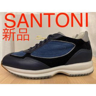 Santoni - 新品 SANTONI サントーニ ラグジュアリー レザースニーカー 厚底