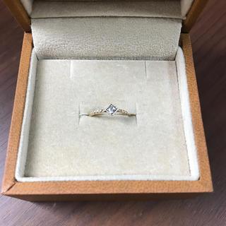 保証書あり k10 ダイヤモンド ピンキー リング 2.5号(リング(指輪))