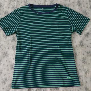 モンベル(mont bell)の【送料無料】mont-bell ボーダーTシャツ Lsize(Tシャツ(半袖/袖なし))
