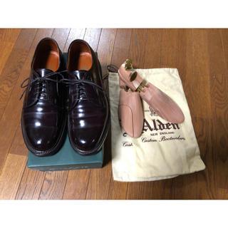 Alden - 超美品 オールデンのコードバンプレントゥ バーガンディ