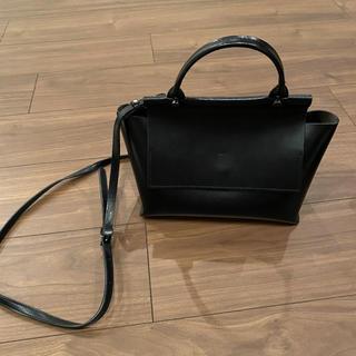 ユナイテッドアローズ(UNITED ARROWS)のYAHKI ヤーキ 2way ショルダーバッグ ハンドバッグ 黒 美品(ハンドバッグ)