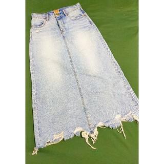ロデオクラウンズワイドボウル(RODEO CROWNS WIDE BOWL)のデニムロングスカート(ロングスカート)