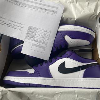 ナイキ(NIKE)の28.0 Nike Air Jordan 1 Low Court Purple(スニーカー)