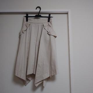 パターンフィオナ(PATTERN fiona)の【週末限定価格:新品】PATTERN fiona 裾ランダム フレアースカート(ひざ丈スカート)