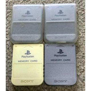 プレイステーション(PlayStation)のplaystation  PS   メモリーカード 4枚セット(その他)