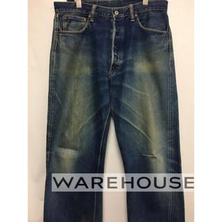 ウエアハウス(WAREHOUSE)のウエアハウス WAREHOUSE W34 1001xx 旧牛パッチ(デニム/ジーンズ)