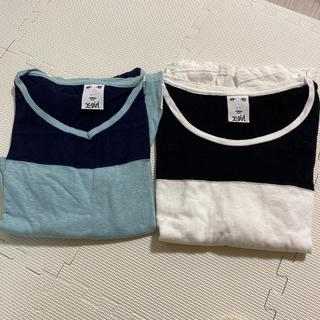 エックスガール(X-girl)のエックスガールラグラン7部丈シャツ2枚セット(Tシャツ(長袖/七分))