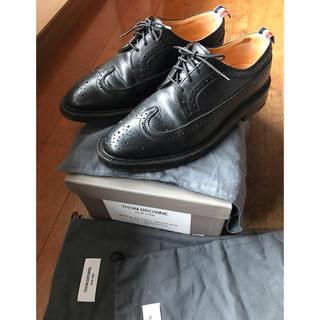 THOM BROWNE - トムブラウン ウィングチップ シューズ US9 THOM BROWNE 黒 革靴