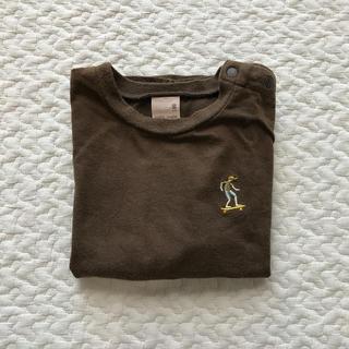 プティマイン(petit main)のpetit main 80 Tシャツ 刺繍 男の子 半袖(Tシャツ)