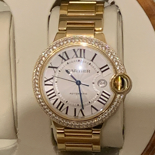 カルティエ(Cartier)のカルティエ バロンブルー 42ミリ YG ダイヤベゼル(腕時計(アナログ))