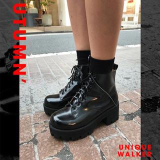 ディーホリック(dholic)の厚底ブーツ 韓国 ブーツ chuu dholic(ブーツ)