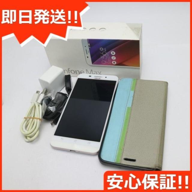 ASUS(エイスース)の超美品 SIMフリー zenfone Max ZC550KL ホワイト  スマホ/家電/カメラのスマートフォン/携帯電話(スマートフォン本体)の商品写真