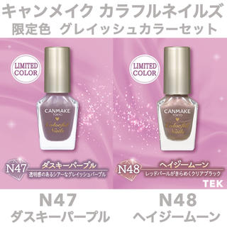 CANMAKE - 限定色 新品未開封 CANMAKE カラフルネイルズ N47 N48 2点セット