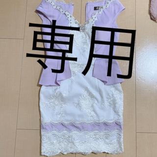デイジーストア(dazzy store)のキャバドレス S パープル 美品  dazzy(ナイトドレス)