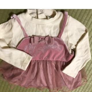ナルミヤ インターナショナル(NARUMIYA INTERNATIONAL)の女児トップスセット サイズ90(Tシャツ/カットソー)