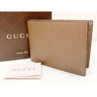 Gucci - 未使用 GUCCI グッチ レザー 財布 ブラウン