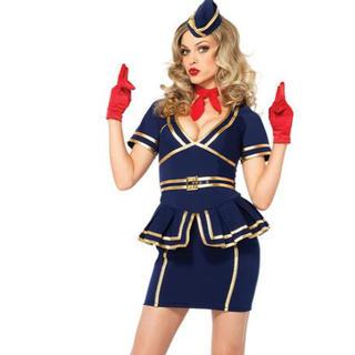 バービー(Barbie)のハロウィン コスプレ キャビンアテンダント(衣装一式)