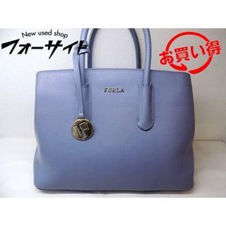 フルラ ハンドバッグ ■ ブルー系 ロゴ チャーム バッグ FURLA (トートバッグ)