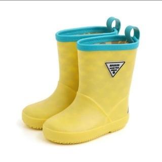 BREEZE - 新品 ★ BREEZE 15cm 無地 レインシューズ 黄色 イエロー 長靴
