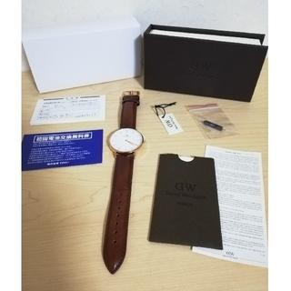 Daniel Wellington - ダニエルウェリントン ローズゴールド ブラウン 36mm 腕時計 箱付き 稼働中
