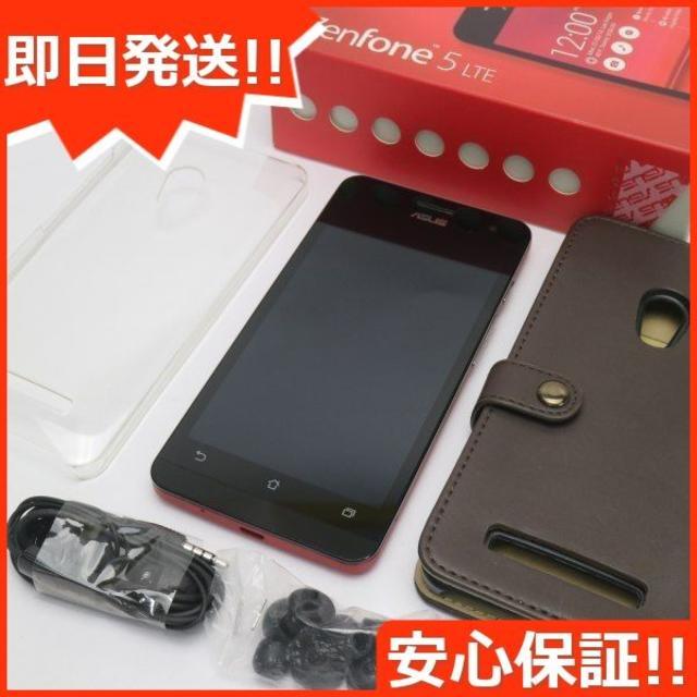 ASUS(エイスース)の美品 ZenFone5 16GB A500KL レッド  スマホ/家電/カメラのスマートフォン/携帯電話(スマートフォン本体)の商品写真