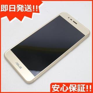エイスース(ASUS)の美品 SIMフリー zenfone 3 Max ZC520TL ゴールド (スマートフォン本体)