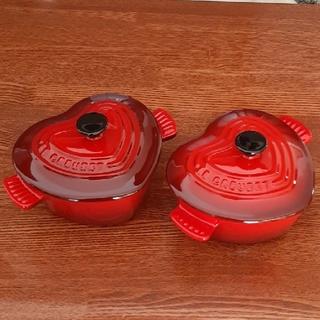 ルクルーゼ(LE CREUSET)のル・クルーゼのミニ ココット 2個セット(食器)