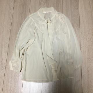 ルージュヴィフ(Rouge vif)のシースルー リボンタイシャツ(シャツ/ブラウス(長袖/七分))