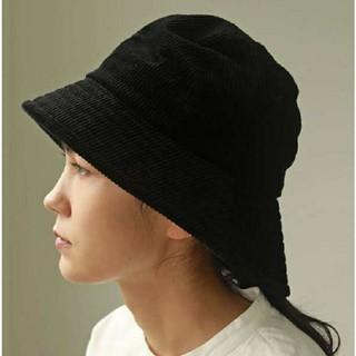 トゥデイフル(TODAYFUL)のCorduroy Bucket Hat  todayful 黒(ハット)