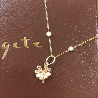 agete - agete K10 クローバー ネックレス チャーム 美品