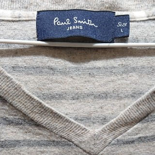 ポールスミス(Paul Smith)のPaul Smith ロンT ボーダー Vネックメンズ(Tシャツ/カットソー(七分/長袖))