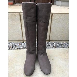 バークレー(BARCLAY)の新品 22cm ロングブーツ ダークブラウン ✴︎ BARCLAY(ブーツ)