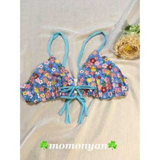 momotyリラックスブラ ☆和の花ブルー☆(ブラ)