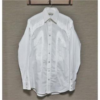 トーガ(TOGA)の定価4.2万 TOGA VIRILIS フリンジ シャツ 44 メンズ ホワイト(シャツ)