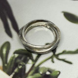 シルバー925 リング トリニティ 銀 指輪 ピンキー 三連リング シンプル(リング(指輪))