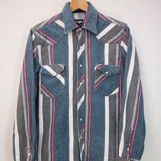 ラングラー(Wrangler)の実寸L 90s ラングラー ヘビーネルシャツ ウエスタン シャツ 古着 b321(シャツ)